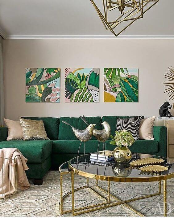 диван зелений